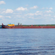 Stock Photo: Cargo barge