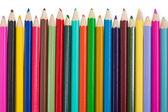 Ensemble de crayons de couleur sur fond blanc — Photo