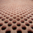 Stock Photo: Rusty metal lattice - heat exchanger