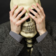 Skeleton covering his eyes — Stock Photo #3623568