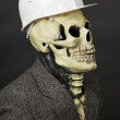 Deadly construction superintendent in helmet — Stock Photo