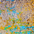 Cracked oil paint on wall surface — Stock Photo
