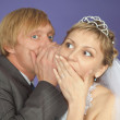 Royalty-Free Stock Photo: Groom tells to bride confidential news