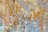 Stück geschälte farbe auf wandflächen — Stockfoto
