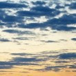 Horizontal seamless panorama of evening sky — Stock Photo