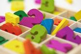 School material for arithmetics teaching — Stock Photo