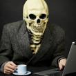 Royalty-Free Stock Photo: Death walks in Internet