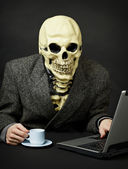 Death walks in Internet — Stock Photo