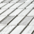 Roof covered with galvanized iron - Stock Photo