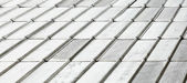 Roof covered with galvanized iron — Stock Photo