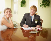 Registration of marriage — Stockfoto