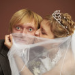 Royalty-Free Stock Photo: Funny bride and groom