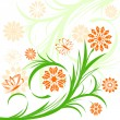 Floral ornament on white background — Stockvectorbeeld