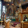 Interior of russian church - Stock Photo