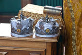 Wedding crowns — Stock Photo