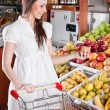Woman choose food in supermarket — Stock Photo #2894179