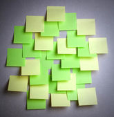 Many colored empty sticker notes on wall — Stock Photo