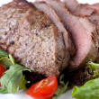 Stock Photo: Steak with vegetable