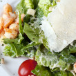 Salad  caesar  with shrimps — Stock Photo