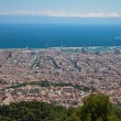 A postcard view of Barcelona from the Tibidabo hill — Stock Photo #3432968
