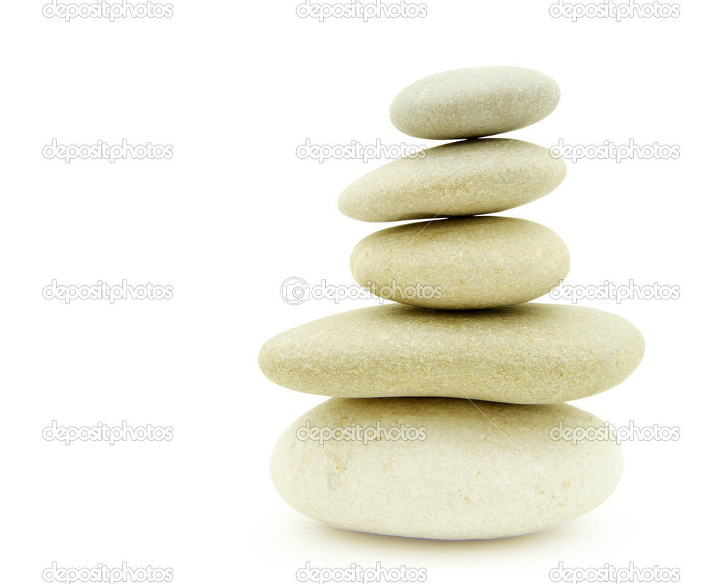 Stack of balanced stones on a white background — Stock Photo #2786543