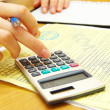 Calculating bills — Stock Photo