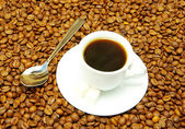 White cup with coffee — Stock Photo