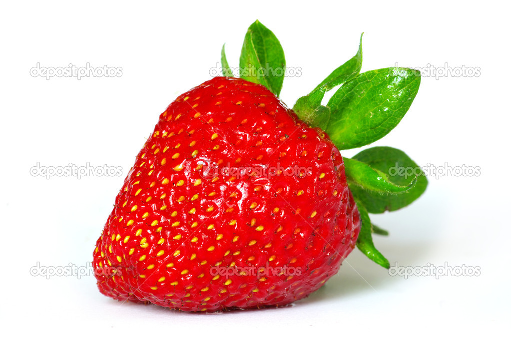 The strawberry isolated over white — 图库照片 #3382229
