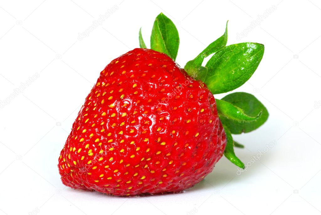 The strawberry isolated over white  Photo #3382229