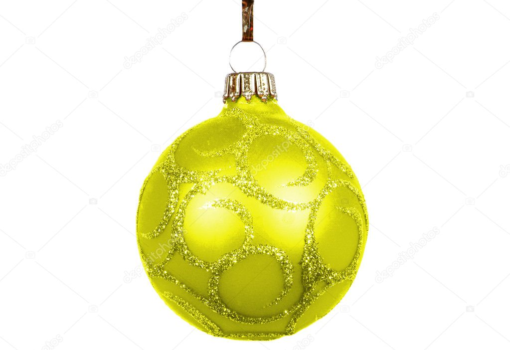 Christmas balls on a white background.                                — Stock Photo #3680014