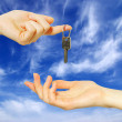 Key in hands — Stock Photo #3690446