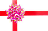 Gift bow with ribbon — Stock Photo