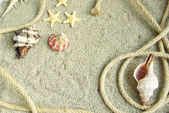 Corda sulla sabbia — Foto Stock