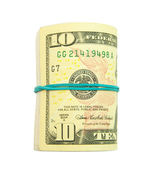 Roll of dollars — Stock Photo