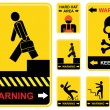 Royalty-Free Stock Imagem Vetorial: Set of warning signs