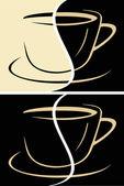 喝杯咖啡拿铁咖啡 — 图库矢量图片