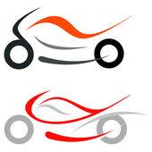 Motorcycle, sportbike — Stock Vector