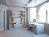 Gray Bedroom — Stock Photo