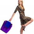 Shopping pretty woman — Stock Photo