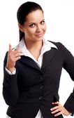 A young beautiful business woman — Stock Photo
