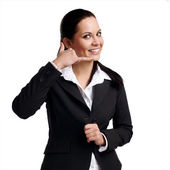 Business woman calling — Stock Photo