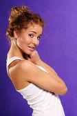 セクシーな白人の若い女性の肖像画 — ストック写真