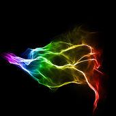 Heldere kleurrijke golvende vloeiende achtergrond — Stockfoto