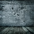 Stockfoto: Stylish grunge wall texture and wooden floor