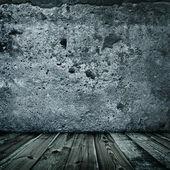 Stijlvolle grunge muur textuur en houten vloer — Stockfoto