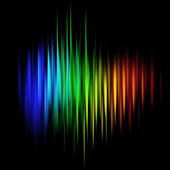 Abstract multicolored linear background — Stock Photo