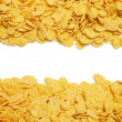 Stock Photo: Cornflakes background with copy space in centre