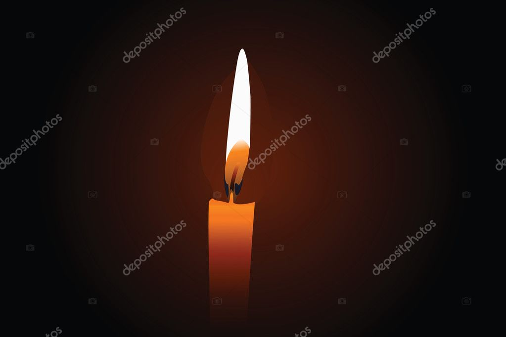 Vector illustration of candle under the dark background  Stock Vector #3066397