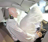 Mannequin in a car — Stock Photo