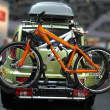 Foto Stock: Car with bicycles
